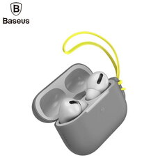 Dėkliukas Baseus Lets go Silicone-gel Protective case for Apple Airpods Pro (MWP22ZM/A), Grey kaina ir informacija | Dėkliukas Baseus Lets go Silicone-gel Protective case for Apple Airpods Pro (MWP22ZM/A), Grey | pigu.lt