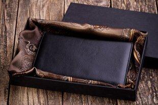 Мужской кошелек из натуральной кожи M101BD+подарочная упаковка+шелковый платок цена и информация | Оригинальные подарки для мужчин | pigu.lt