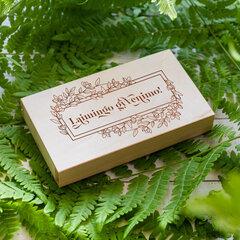 "Medinė pinigų dėžutė ""Laimingo gyvenimo!"" цена и информация | Конверты, открытки | pigu.lt"