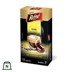 Kavos kapsulės Rene Vanilla Nespresso®*, 10vnt. kaina ir informacija | Kavos kapsulės Rene Vanilla Nespresso®*, 10vnt. | pigu.lt