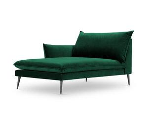 Kušetė Milo Casa Elio, tamsiai žalia/juoda kaina ir informacija | Sofos | pigu.lt