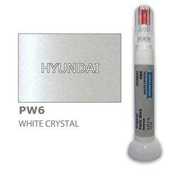 Dažų korektorius įbrėžimų taisymui HYUNDAI PW6 - WHITE CRYSTAL 12 ml kaina ir informacija | Automobiliniai dažai | pigu.lt
