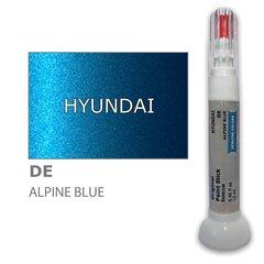 Dažų korektorius įbrėžimų taisymui HYUNDAI DE - ALPINE BLUE 12 ml kaina ir informacija | Automobiliniai dažai | pigu.lt