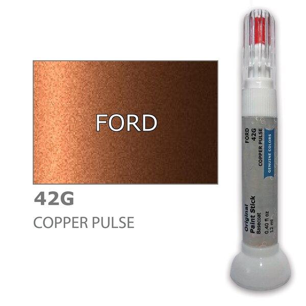 Dažų korektorius įbrėžimų taisymui FORD 42G - COPPER PULSE 12 ml kaina ir informacija | Automobiliniai dažai | pigu.lt