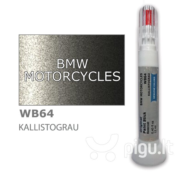 Dažų korektorius įbrėžimų taisymui BMW MOTORCYCLES WB64 - KALLISTOGRAU 12 ml kaina ir informacija | Automobiliniai dažai | pigu.lt