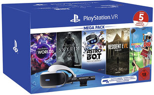 VR-гарнитура Sony PlayStation VR Version 2 Mega pack цена и информация | VR-гарнитура Sony PlayStation VR Version 2 Mega pack | pigu.lt