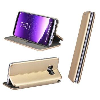 Dėklas Book Elegance Samsung G975 S10 Plus, aukso spalvos kaina ir informacija | Telefono dėklai | pigu.lt