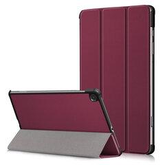 Dėklas Smart Leather Samsung Tab S6 Lite tamsiai raudonas kaina ir informacija | Telefono dėklai | pigu.lt