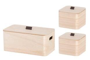 4Living medinių dėžių su dangčiais rinkinys, 3 vnt. цена и информация | 4Living medinių dėžių su dangčiais rinkinys, 3 vnt. | pigu.lt
