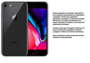 Apple iPhone 8 Atnaujintas, 64GB, Space Gray kaina ir informacija | Apple iPhone 8 Atnaujintas, 64GB, Space Gray | pigu.lt