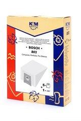 Dulkių maišeliai K&M B02, 5 vnt. + filtras