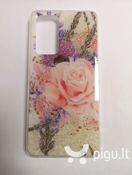 Silikoninis dėklas su rože ir laukinėmis gėlėmis, skirtas Samsung S20 kaina ir informacija | Telefono dėklai | pigu.lt