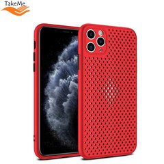 "TakeMe ""Breathing dotted"" TPU back cover case for Apple iPhone X / Xs Red kaina ir informacija 