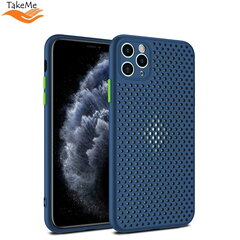 "TakeMe ""Breathing dotted"" TPU back cover case for Apple iPhone X / Xs Blue kaina ir informacija 