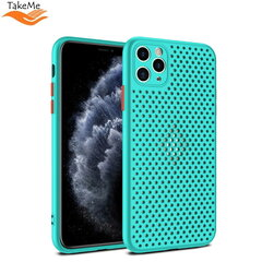 "TakeMe ""Breathing dotted"" TPU back cover case for Apple iPhone X / Xs Turquoise kaina ir informacija 