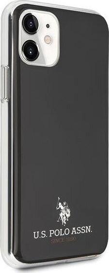 U.S. Polo ASSN USHCN61TPUBK dėklas, skirtas iPhone 11, juodas