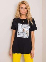 Marškinėliai moterims, juodi kaina ir informacija | Marškinėliai moterims | pigu.lt