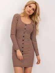 Suknelė moterims, ruda kaina ir informacija | Suknelės | pigu.lt