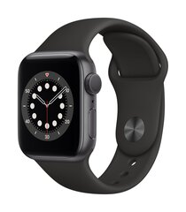 Išmanusis laikrodis Apple Watch Series 6 (GPS, 40 mm) - Space Gray Aluminum Case with Black Sport Band kaina ir informacija | Išmanusis laikrodis Apple Watch Series 6 (GPS, 40 mm) - Space Gray Aluminum Case with Black Sport Band | pigu.lt