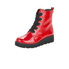 Lakuoti aulinukai moterims Remonte, raudoni kaina ir informacija | Aulinukai, ilgaauliai batai moterims | pigu.lt