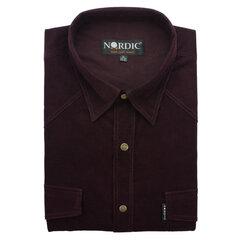 Velvetiniai marškiniai vyrams Nordic, tiesus siluetas - ilgomis rankovėmis kaina ir informacija | Vyriški marškiniai | pigu.lt