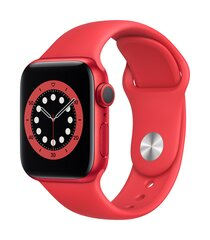 Išmanusis laikrodis Apple Watch 6 GPS, 40mm Red Aluminium Case with Red Sport Band kaina ir informacija | Išmanusis laikrodis Apple Watch 6 GPS, 40mm Red Aluminium Case with Red Sport Band | pigu.lt
