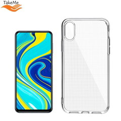 "TakeMe ""Clear"" series Transparent 2mm thin back cover case for Xiaomi Redmi Note 9 Pro / Note 9 Pro Max / Note 9S kaina ir informacija 