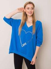 Džemperis moterims, mėlynas kaina ir informacija | Džemperiai moterims | pigu.lt