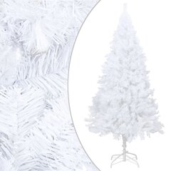 Dirbtinė Kalėdų eglutė su storomis šakomis, balta, 180cm, PVC kaina ir informacija | Dirbtinė Kalėdų eglutė su storomis šakomis, balta, 180cm, PVC | pigu.lt