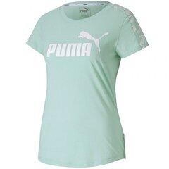 Sportiniai marškinėliai moterims Puma Amplified Tee W 581218 32, žalia kaina ir informacija | Marškinėliai moterims | pigu.lt