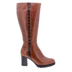 Rudeniniai platūs didelio dydžio ilgaauliai batai moterims PieSanto, rudi kaina ir informacija | Aulinukai, ilgaauliai batai moterims | pigu.lt
