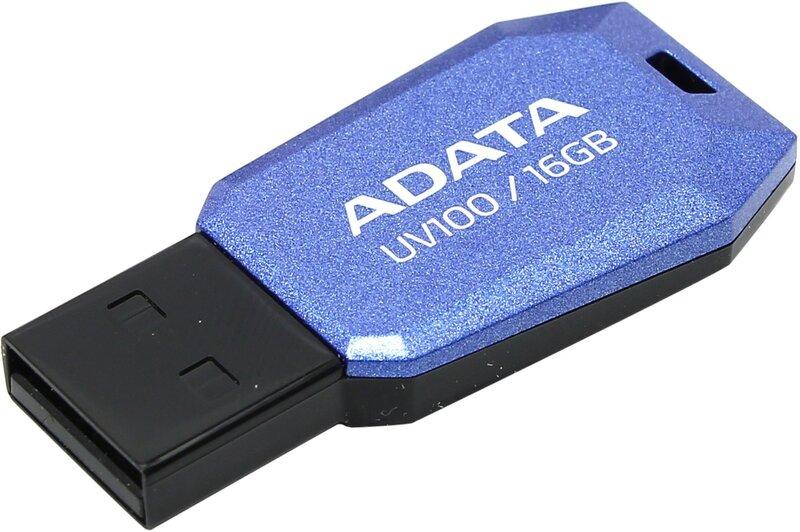 Atmintinė Adata UV100, 16GB, USB 2.0, Mėlyna