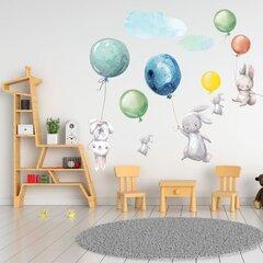 Interjero lipdukas - Kiškiai ir spalvingi balionai kaina ir informacija | Interjero lipdukas - Kiškiai ir spalvingi balionai | pigu.lt