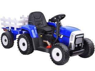 Большой электрический трактор с прицепом, синий цена и информация | Большой электрический трактор с прицепом, синий | pigu.lt