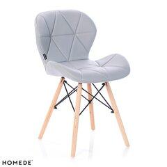 4-ių kėdžių komplektas Homede Silla, šviesiai pilkas kaina ir informacija | Virtuvės ir valgomojo kėdės | pigu.lt