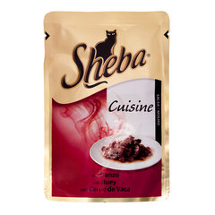 SHEBA konservuotas ėdalas katėms su jautiena, 85 g