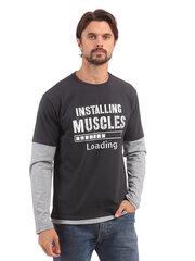 Vyriški marškinėliai ilgomis rankovėmis Street Industries kaina ir informacija | Vyriški marškinėliai | pigu.lt
