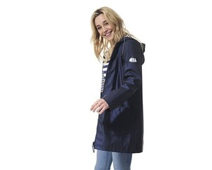 Lietpaltis moterims Laurella Hublot Mode Marine, tamsiai mėlynas kaina ir informacija | Paltai moterims | pigu.lt