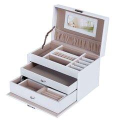 Papuošalų dėklas Songmics, baltas kaina ir informacija | Papuošalų dėžutės | pigu.lt