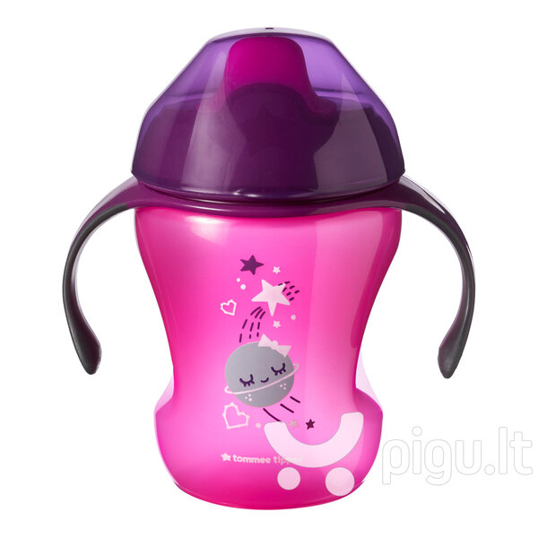 Tommee Tippee Easy Drink mokomasis puodelis 230 ml 6 mėn.+, 44711097 kaina