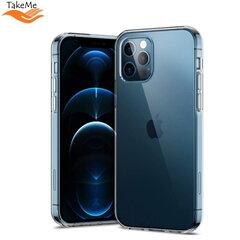 TakeMe Ultra Slim 0.3mm Back Case Apple iPhone 12 Pro Max Transparent kaina ir informacija | Telefono dėklai | pigu.lt