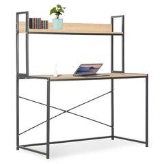 Kompiuterio stalas VidaXL, 120x60x138 cm, juodas/ąžuolo spalvos kaina ir informacija | Kompiuteriniai, rašomieji stalai | pigu.lt