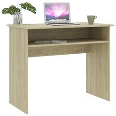 Rašomasis stalas, 90x50x74cm, rudas kaina ir informacija | Kompiuteriniai, rašomieji stalai | pigu.lt