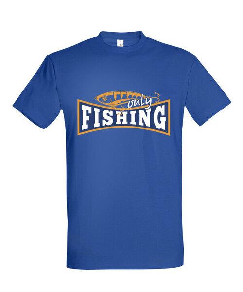 Marškinėliai vyrams Fishing Only, mėlyna