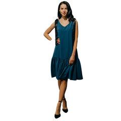 Suknelė su raukiniais Branchess, mėlyna kaina ir informacija | Suknelės | pigu.lt