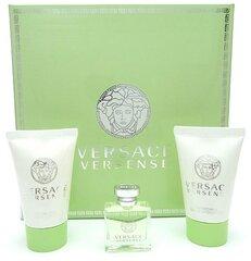 Rinkinys Versace Versense: EDT moterims 5 ml + kūno losjonas 25 ml + dušo gelis 25 ml