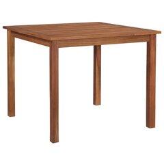 Sodo stalas, rudas kaina ir informacija | Lauko stalai, staliukai | pigu.lt