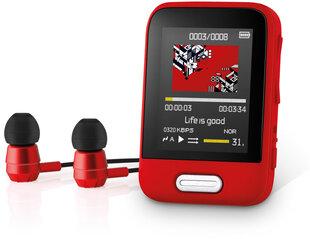 Sencor SFP 7716 RD, 16 GB, raudonas kaina ir informacija | Sencor SFP 7716 RD, 16 GB, raudonas | pigu.lt