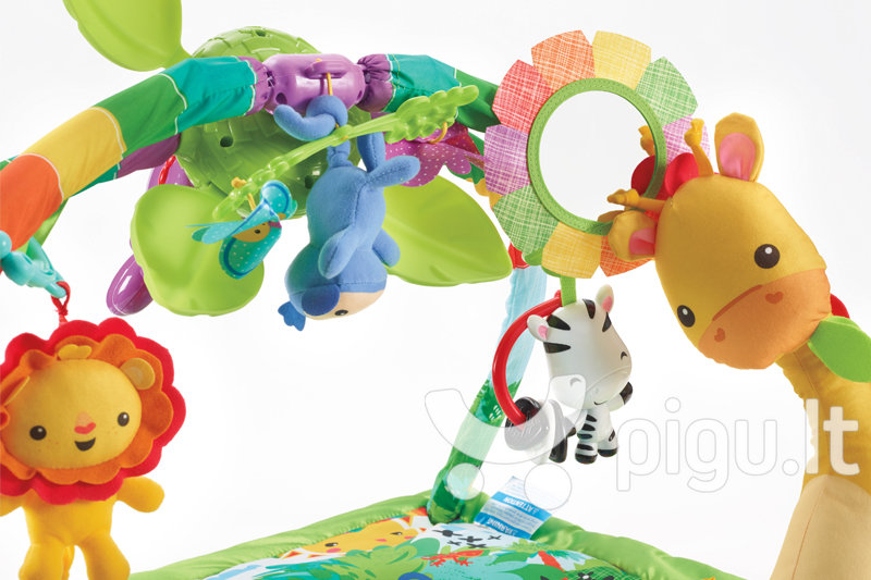 Lavinamasis kilimėlis Fisher Price Rainforest Melodies & Lights Deluxe pigiau