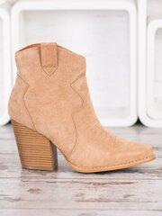 Aulinukai moterims Bella Paris, rudi kaina ir informacija | Aulinukai, ilgaauliai batai moterims | pigu.lt